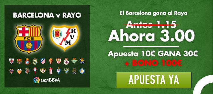 Barcelona vs Rayo cuota 3.0