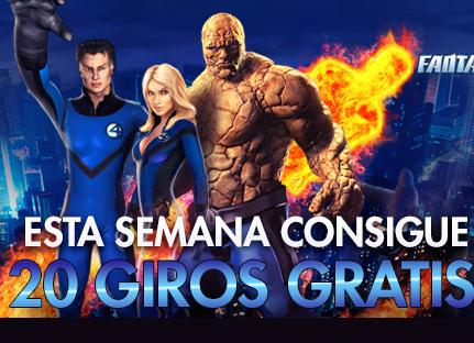 sportium giros gratis Fantastic Four