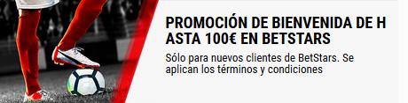 Consigue 100 euros de bienvenida con BetStars