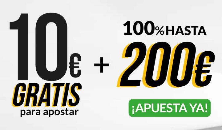 Consigue más de 200 euros para apostar
