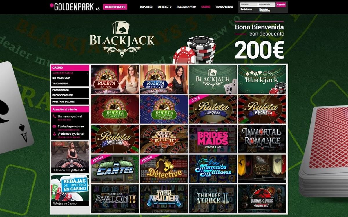 Goldenpark ofrece una gran variedad de juegos de casino