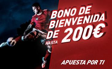Consigue 200 euros con el bono de bienvenida de Sportium