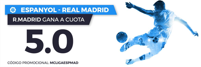 Apuesta con cuota mejorada a favor del Real Madrid