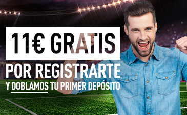 Consigue 11 euros gratis sólo por registrarte en Sportium