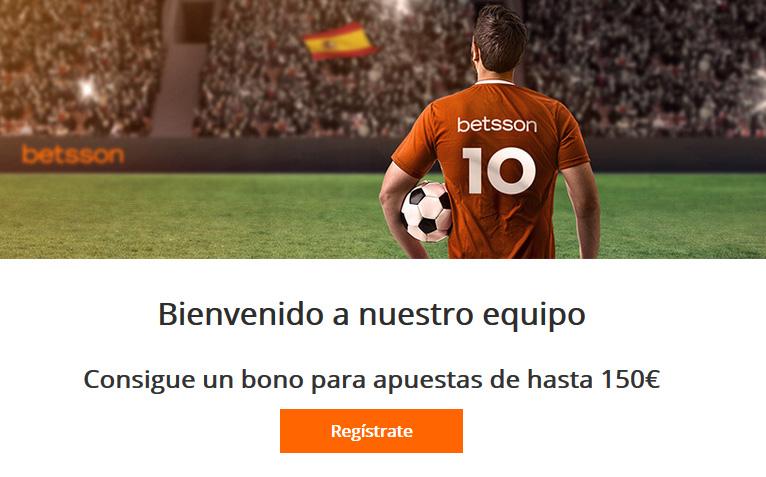 Consigue hasta 150 euros con Betsson al registrarte