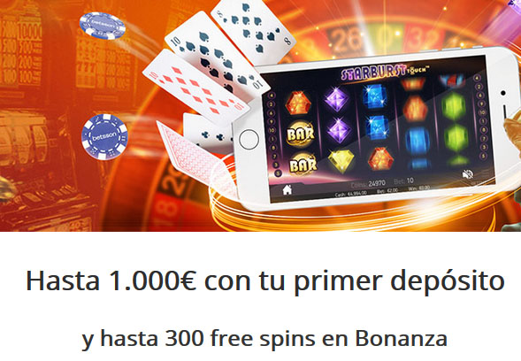 Consigue hasta 1000 euros con Betsson