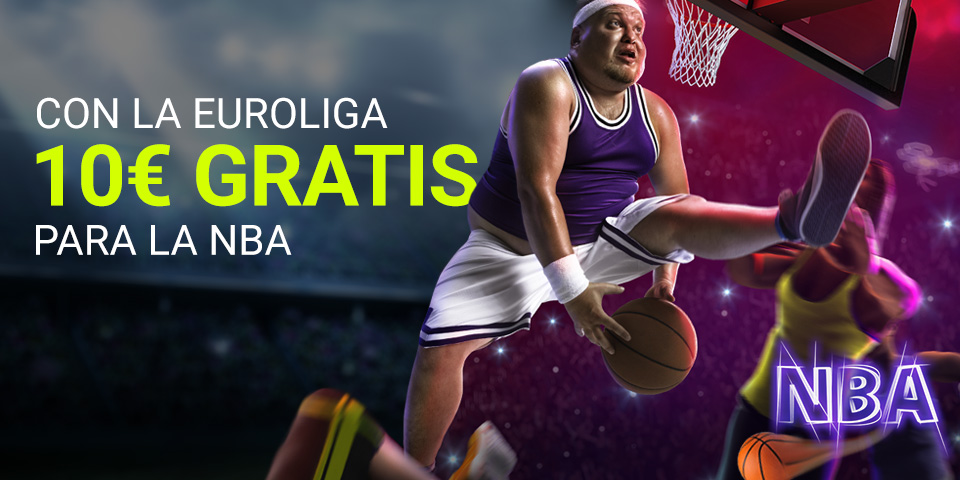 Consigue 10 euros para apostar en la NBA