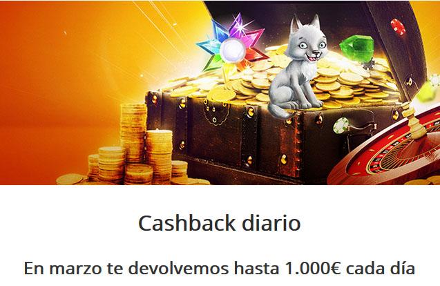 Betsson te devuelve hasta 1000 euros al día