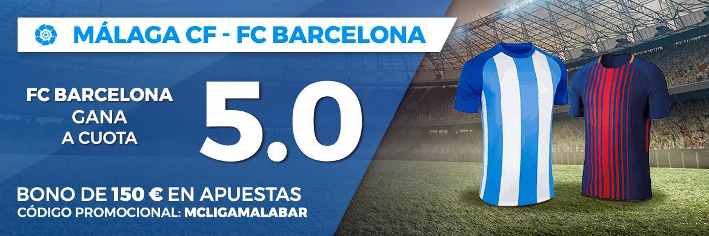 Apuesta a favor del FC Barcelona a cuota 5.00 con Pastón