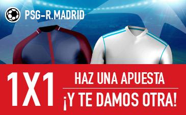 Apuesta al PSG - Real Madrid y Sportium te regala otra apuesta