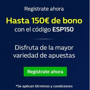 150 euros de bono de bienvenida
