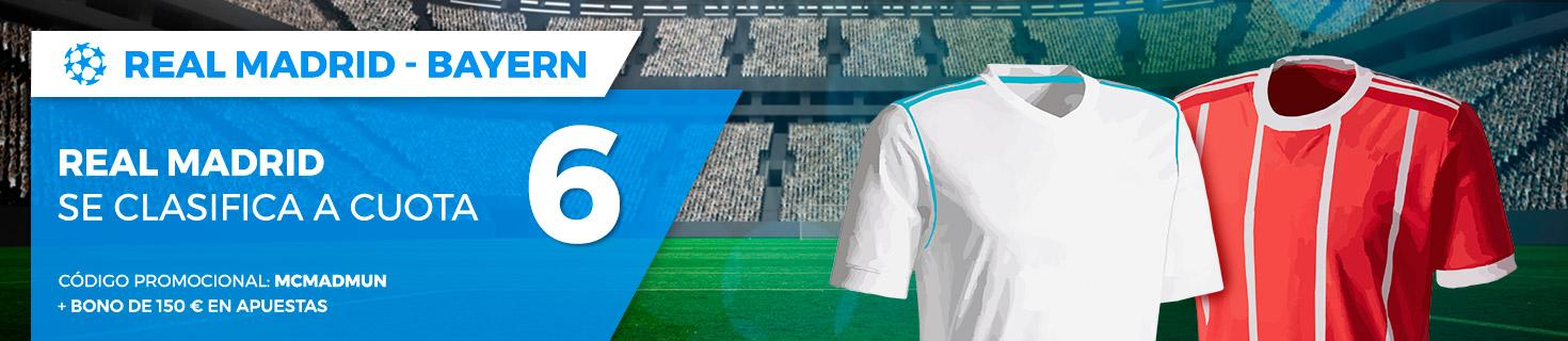Real Madrid se clasificará a 6.0 euros