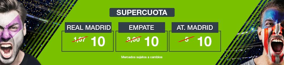 Supercuotas en el Real Madrid - Atlético de Madrid