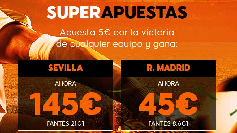Cuotas mejoradas para el Sevilla - Real Madrid