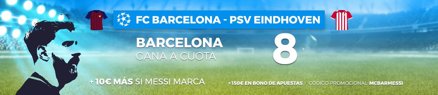 Cuota mejorada y 10 euros extra si marca Messi