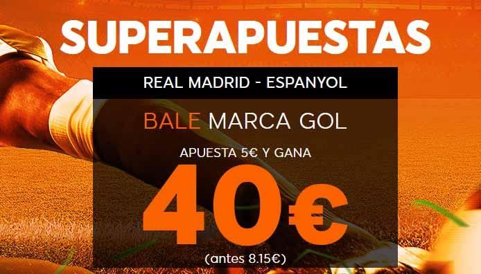 El gol de Bale con cuota mejorada
