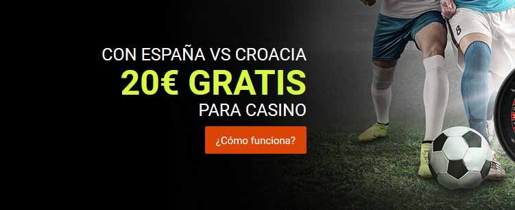 Consigue 20 euros gratis para el casino