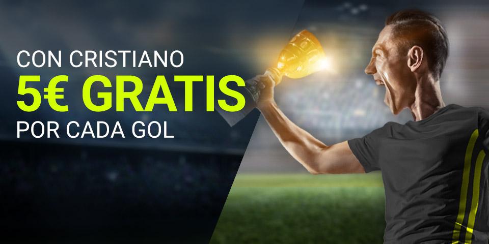 Consigue 5 euros con cada gol de Cristiano Ronaldo