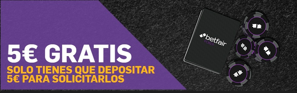 5€ GRATIS Betfair Póker