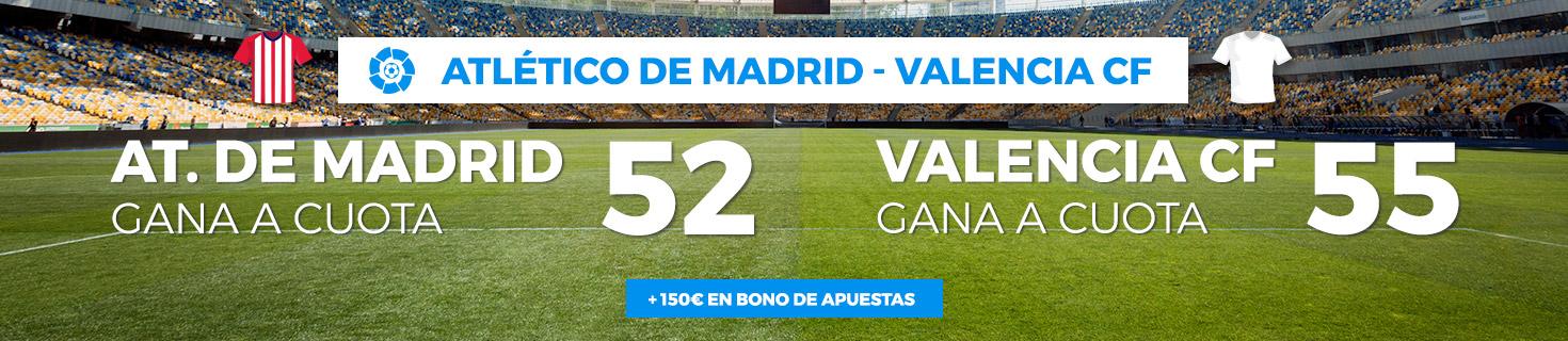 Megacuota Apuestas At. Madrid Valencia