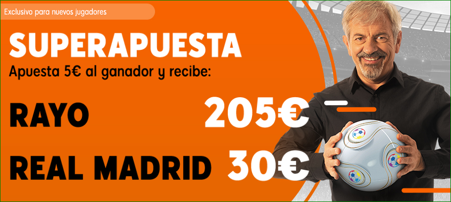 Supercuota Rayo Vallecano Real Madrid Apuesta