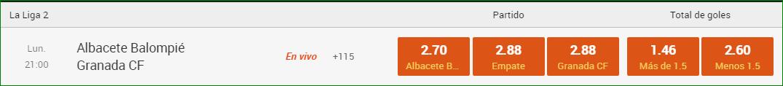 Apuesta Albacete Granada 888 Sport