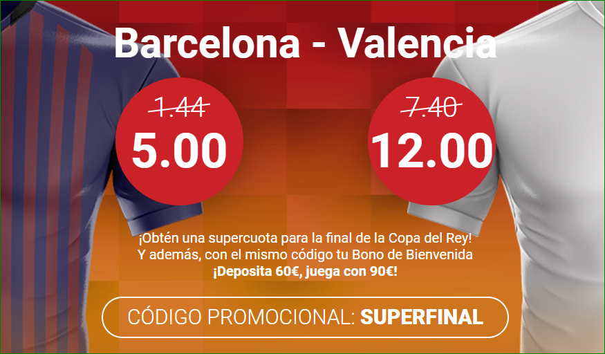 Supercuota Final Copa del Rey Apuestas