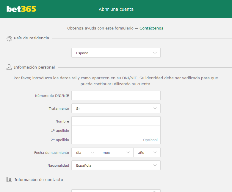Registro Bet365