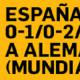 Betfair Alemania España Apuestas