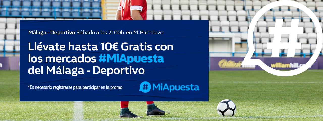 Apuestas 10€ GRATIS Málaga – Deportivo