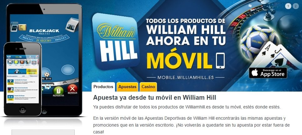 App Móvil William Hill