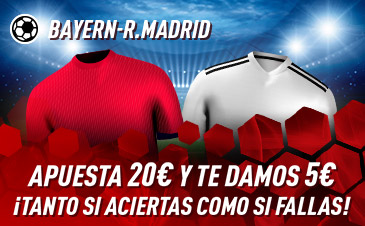 Apuesta Bayern Munich Real Madrid