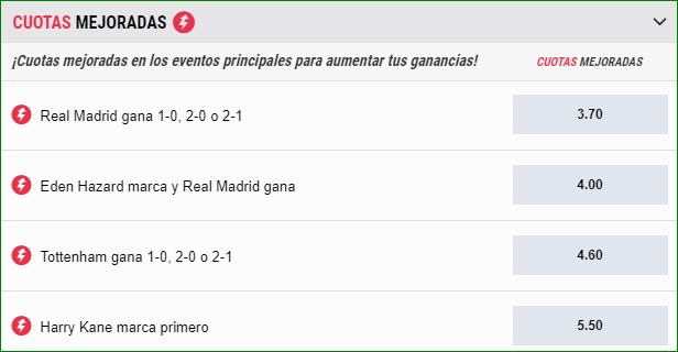 Apuestas Cuota Mejoradas Real Madrid Tottenham