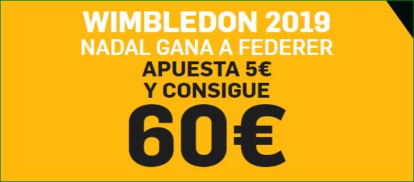 Apuestas Nadal Federer Wimbledon 2019