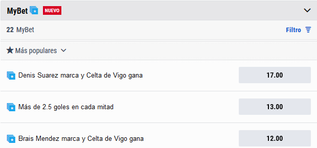 Apuestas Celta Real Madrid MyBet
