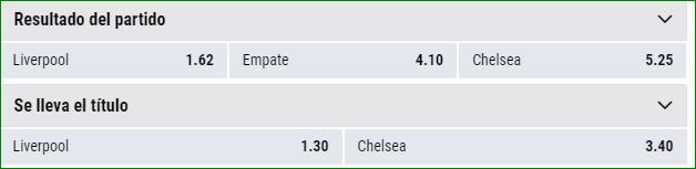 Apuestas Supercopa Europa Liverpool Chelsea