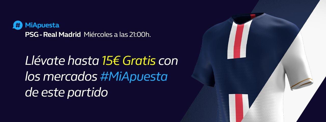 #MiApuesta PSG Real Madrid Champions League