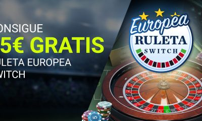 25€ GRATIS Ruleta Europea Switch
