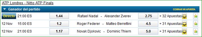 Apuetas ATP Finals Londres