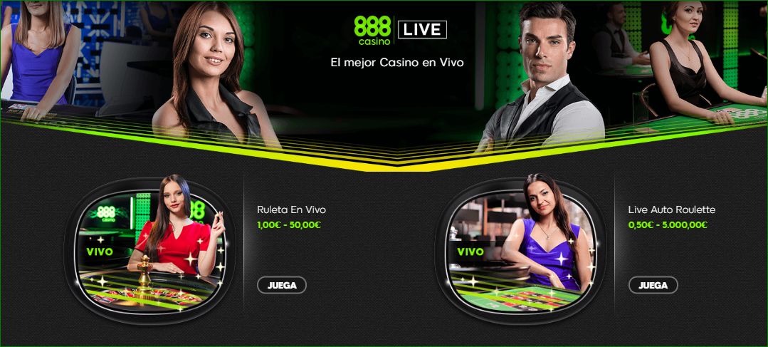 888 Casino Ruleta Vivo