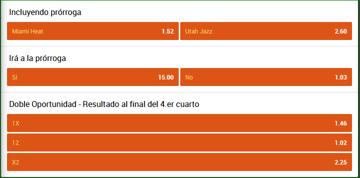 Apuestas NBA Heat Jazz