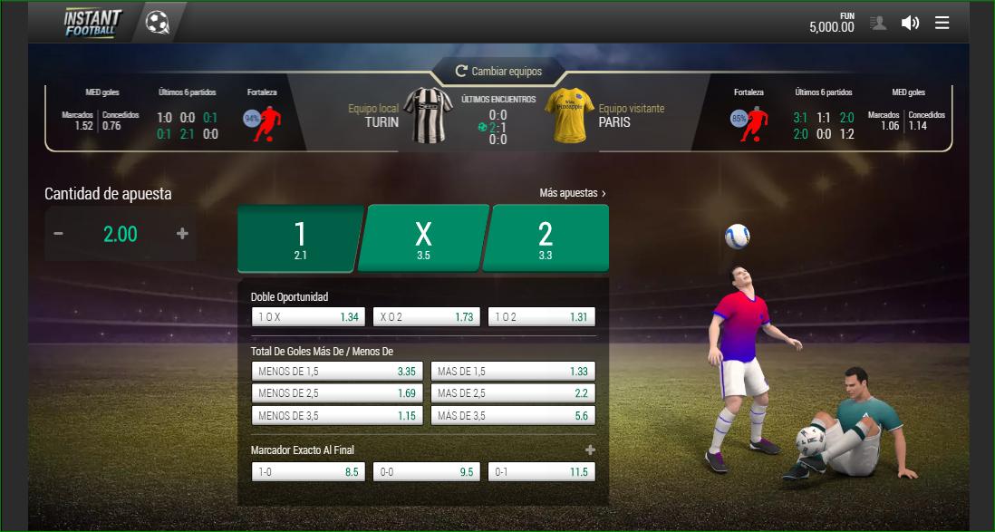 Apuestas Deportes virtuales Fútbol