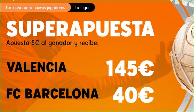 Superapuesta LaLiga Valencia Barcelona