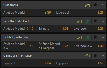 Apuestas Champions At Madrid Liverpool