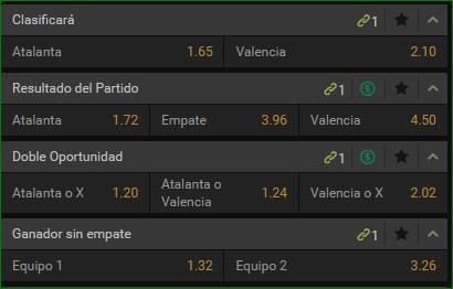 Apuestas Champions Atalanta Valencia