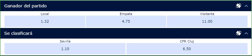 Apuestas Europa League Sevilla CFR