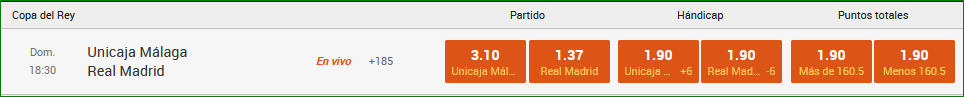 Apuestas Final Copa del Rey ACB 2020 Madrid Unicaja