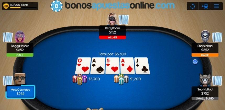 Bono de bienvenida 888 Poker